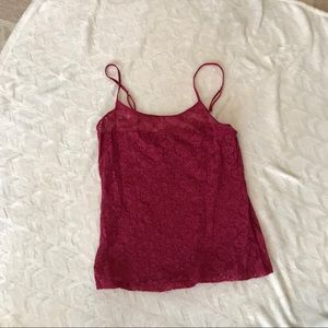 Sheer lace camisole